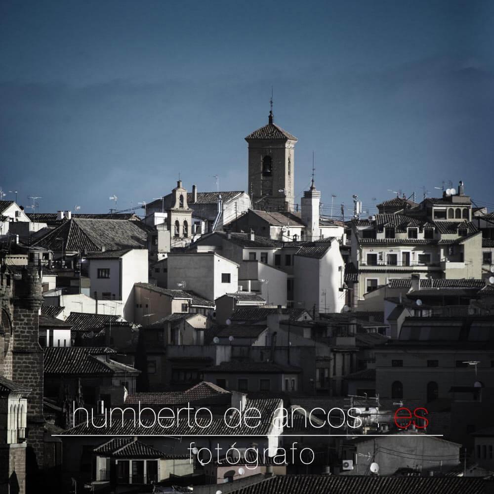 Panorámica de Toledo, iglesia de San Miguel, fotógrafo profesional en Toledo