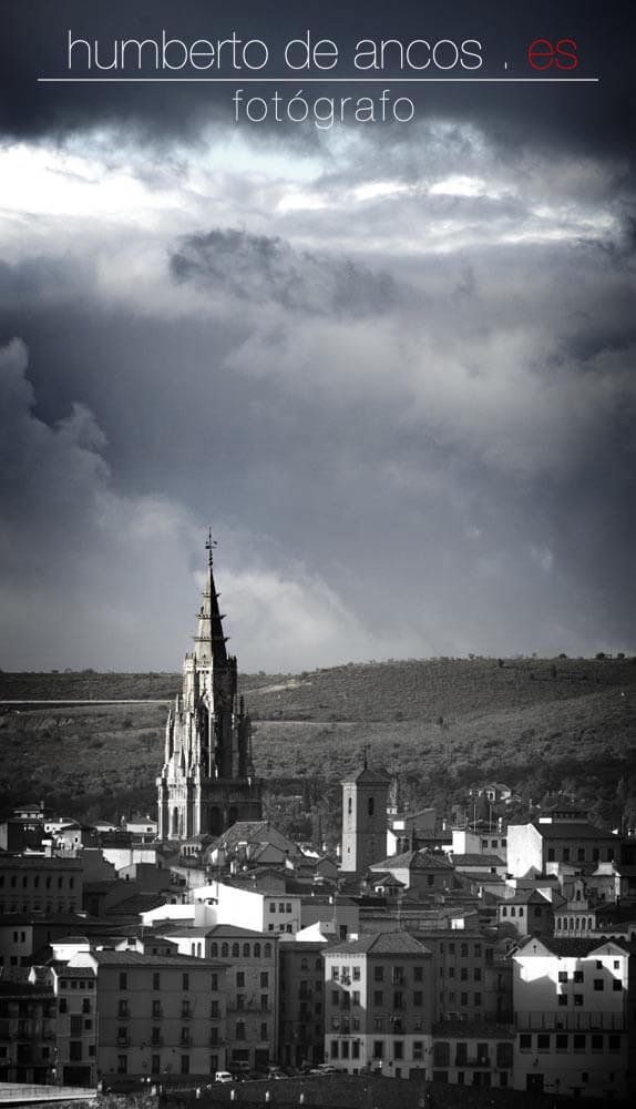 Vista de la ciudad de Toledo, Catedral de Toledo, fotógrafo profesional